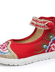 economico -Da donna Scarpe Di corda Primavera Comoda Sneakers Ballerina per Casual Nero Rosso Verde Blu