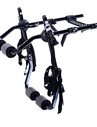 cheap -Bike Trunk Mount Rack Cycling Portable Foldable 3-Bike Carbon Steel