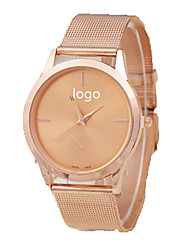 cheap -Couple's Quartz Wrist Watch Chinese Casual Watch Alloy Band Luxury Sparkle Casual Fashion Silver Gold Rose Gold