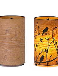 cheap -Rustic/Lodge Artistic Retro / Vintage Traditional/Classic Country Mini Style Eye Protection Table Lamp For Wood/Bamboo 220V 1 2 3 4 5
