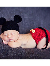 Baby Unisex Tøjsæt Daglig Ensfarvet,Bambus Fiber Alle årstider Uden ærmer Simple Rød