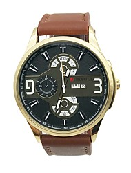 Pánské Hodinky na běžné nošení Náramkové hodinky Unikátní Creative hodinky čínština Křemenný Velký ciferník Kůže Kapela Vintage Na běžné