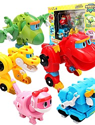 cheap -Robot Toy Boats Race Car Toys Dinosaur Animal Animals Vehicles Animals Transformable Parent-Child Interaction Classic Animal Soft Plastic