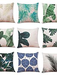 baratos -9 pçs Linho Cobertura de Almofada, Geométrica Árvores/Folhas Art Deco