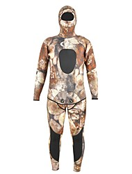 cheap -Men's Thick Wetsuits Heat Retaining Neoprene Diving Suit Long Sleeves Diving Suits Spring, Fall, Winter, Summer Camouflage
