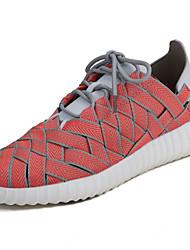 Masculino sapatos Borracha Primavera Outono Conforto Tênis Caminhada Botas Curtas / Ankle Cadarço de Borracha para Laranja Cinzento