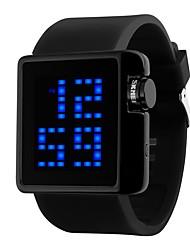 Недорогие -SKMEI Для пары Цифровой Спортивные часы Китайский Календарь Защита от влаги Повседневные часы Фосфоресцирующий силиконовый Группа Роскошь