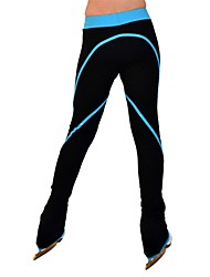 cheap -Figure Skating Pants Women's / Girls' Ice Skating Pants / Trousers Blue Spandex Stretchy Performance / Practise Skating Wear Solid Colored