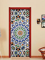 Недорогие -Геометрия Винтаж Наклейки Простые наклейки 3D наклейки Декоративные наклейки на стены, Бумага Винил Украшение дома Наклейка на стену Стена