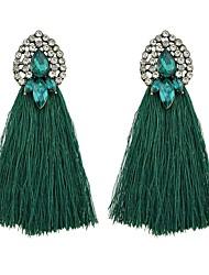 preiswerte -Damen Strass Imitation Turmalin Tropfen-Ohrringe - Einfach Grundlegend , Für Alltag Verabredung