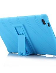 preiswerte -Wellenmuster Muster Silikon-Gummi-Gel Haut Fall Abdeckung mit Halter für Lenovo Tab 4 8 (tb-8504) 8.0 Zoll Tablet PC