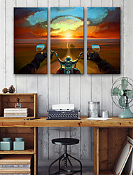 cheap -Canvas Print Three Panels Canvas Vertical Print Wall Decor Home Decoration