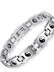 cheap -Men's Chain Bracelet - Stainless Steel Vintage Bracelet Silver For Gift / Daily