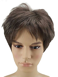 cheap -Synthetic Wig Curly Pixie Cut Synthetic Hair Brown Wig Short Capless