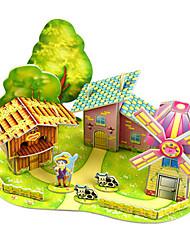 Недорогие -Наборы для моделирования Прямоугольная Взаимодействие родителей и детей Ручная работа утонченный Мягкие пластиковые Архитектура