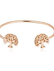 abordables -Femme Manchettes Bracelets - Arbre de la vie Européen, Mode Bracelet Or / Argent / Or Rose Pour Soirée / Quotidien