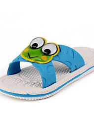 baratos -Para Meninas Sapatos Pele PVC Primavera / Verão Conforto Chinelos e flip-flops para Casual Amarelo / Azul Claro / Verde Claro