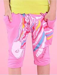 abordables -Pantalones Chico Creativo Algodón Verano Activo Verde Trébol Naranja Rosa Amarillo Fucsia