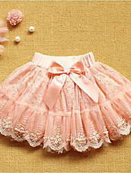 cheap -Girls' Daily Solid Skirt, Cotton Spring Summer Cute Blushing Pink