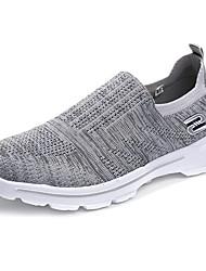 economico -Per donna Scarpe Tulle Primavera / Autunno Comoda Sneakers Piatto Punta tonda Nero / Fucsia / Grigio chiaro