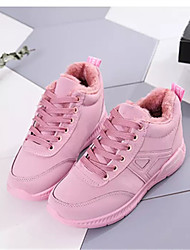 cheap -Women's Shoes Tulle Spring Fall Mary Jane Athletic Shoes Flat Heel Round Toe Lace-up for Athletic Outdoor Black Green Pink