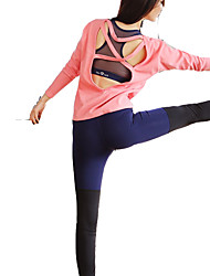 Недорогие -Жен. Пэчворк 1 Брюки для бега - Черный, Тёмно-синий Виды спорта Брюки Йога, Фитнес, Для спортивного зала Спортивная одежда Быстровысыхающий, Воздухопроницаемость, Очень тонкий