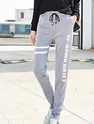 abordables -Mujer Clásico Corte Recto Corte Ancho Pantalones de Deporte Pantalones - Impresiones Reactivas Letra
