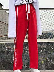 cheap -Women's Cotton Sweatpants Pants - Striped