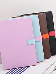 Недорогие -Кейс для Назначение Apple iPad mini 4 Защита от удара со стендом Авто Режим сна / Пробуждение Чехол Сплошной цвет Твердый Кожа PU для