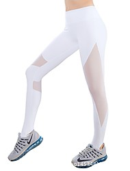 cheap -Women's See Through Running Tights - White, Black, Grey Sports Modal Tights / Leggings Yoga, Fitness, Gym Activewear Quick Dry