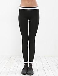 cheap -Women's Slim Cotton Thin Solid Color Legging,Solid Black