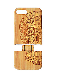 cheap -Case For Apple iPhone 8 Plus iPhone 7 Plus Shockproof Wood Grain Hard for