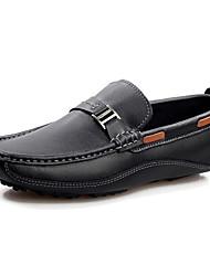 abordables -Homme Chaussures Cuir Printemps / Automne Confort Chaussures Bateau Noir / Marron / Bleu