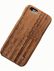 cheap -Case For Apple iPhone 6 Shockproof Wood Grain Hard for
