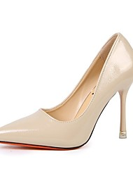 cheap -Women's Shoes PU Spring Fall Comfort Heels Stiletto Heel Pointed Toe for Casual Brown Beige Black