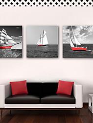 preiswerte -Leinwanddruck Rustikal Modern, Drei Paneele Segeltuch Quadratisch Druck Wand Dekoration Haus Dekoration