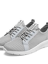 cheap -Men's / Women's Shoes Tulle Summer Comfort Sandals Flat Heel Gore Black / Light gray / Royal Blue