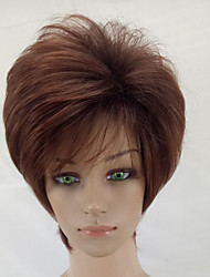 cheap -Synthetic Wig Curly Layered Haircut Synthetic Hair Brown Wig Short Capless