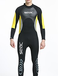 cheap -HISEA® Men's Full Wetsuit 3mm SCR Neoprene Diving Suit Stretchy Long Sleeve Back Zipper / Classic / Fashion Spring / Summer
