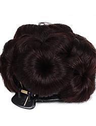 Недорогие -Клубничный Светлый / Средний Auburn / Черный / Темно-коричневый / Medium Auburn Булочка для волос Updo Шиньоны Кулиска Искусственные волосы Волосы Наращивание волос