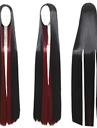 cheap -60inch Long Straight Red&Black Mixed Land of the Lustrous Bort Wig Synthetic Anime Cosplay Wigs CS-352G
