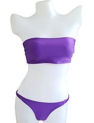 abordables -Femme Bikinis - Basique, Couleur unie