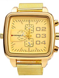 Недорогие -Муж. Модные часы Наручные часы Китайский Кварцевый Повседневные часы Панк Нержавеющая сталь Кожа Группа На каждый день Коричневый