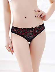 cheap -Women's Stretchy Jacquard Embroidered G-strings & Thongs Panties Ultra Sexy Panties Thin, Acrylic One-piece Suit Blue Black Red