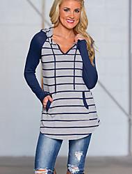 preiswerte -Damen Gestreift-Freizeit Street Schick T-shirt