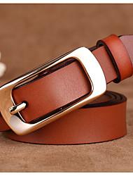cheap -Women's Casual Leather Waist Belt