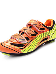 abordables -Tiebao® Chaussures de Vélo de Montagne Fibre de Carbone Antidérapant, Séchage rapide, Respirable Cyclisme Orange Homme