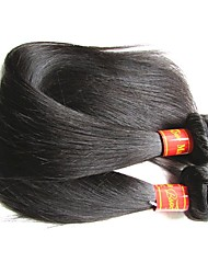 baratos -9a seda de cabelo humano virgem malásia reta 2 pacotes 200g muito boa qualidade extensões de cabelo humano malásio tece cor natural e