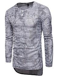 economico -T-shirt Per uomo Sport Tinta unita A V - Cotone