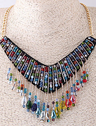 cheap -Women's Drop Bohemian Fashion European Collar Necklace Acrylic Cloth Alloy Collar Necklace  Party